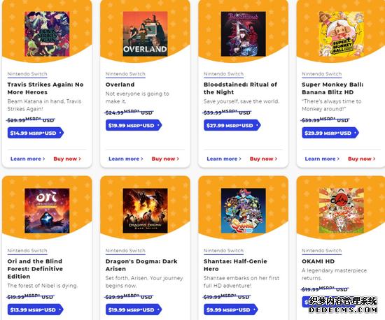 任天堂eShop北美商店开启黑五促销 多款游戏半价